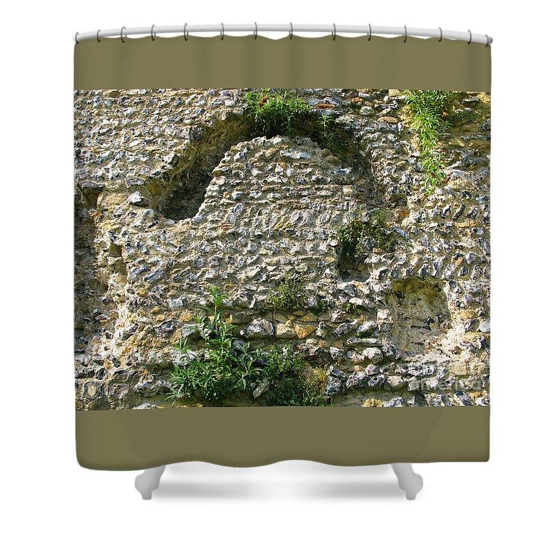 England Shower Curtain featuring the photograph Abbey Ruins by Ann Horn