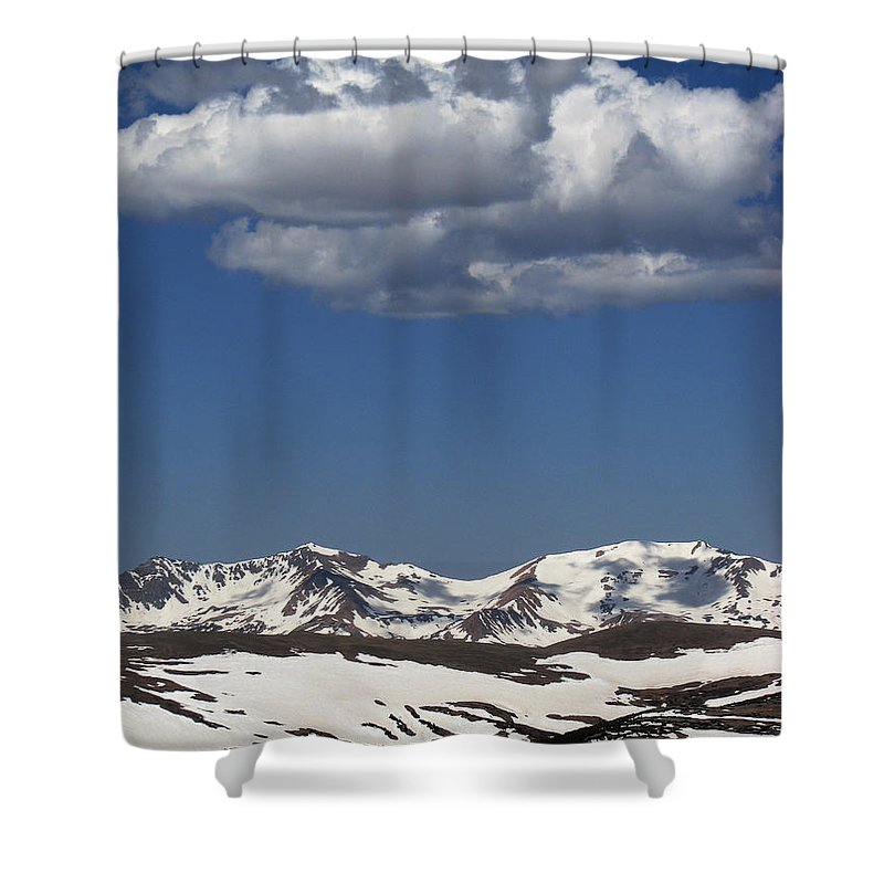 Colorado Shower Curtain featuring the photograph Above It All by Amanda Barcon