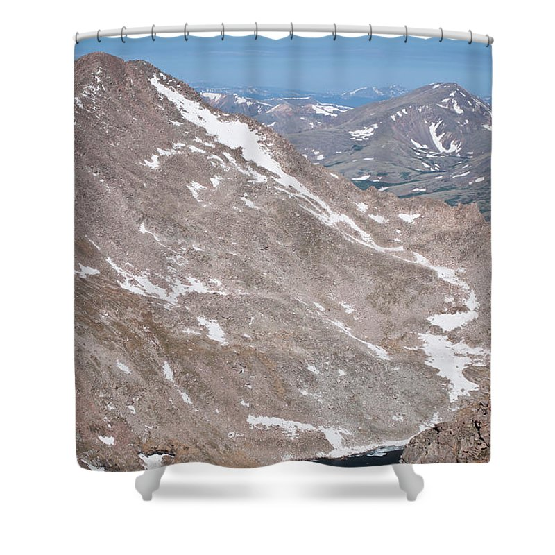 Mountains Shower Curtain featuring the photograph Above Treeline by Colleen Coccia