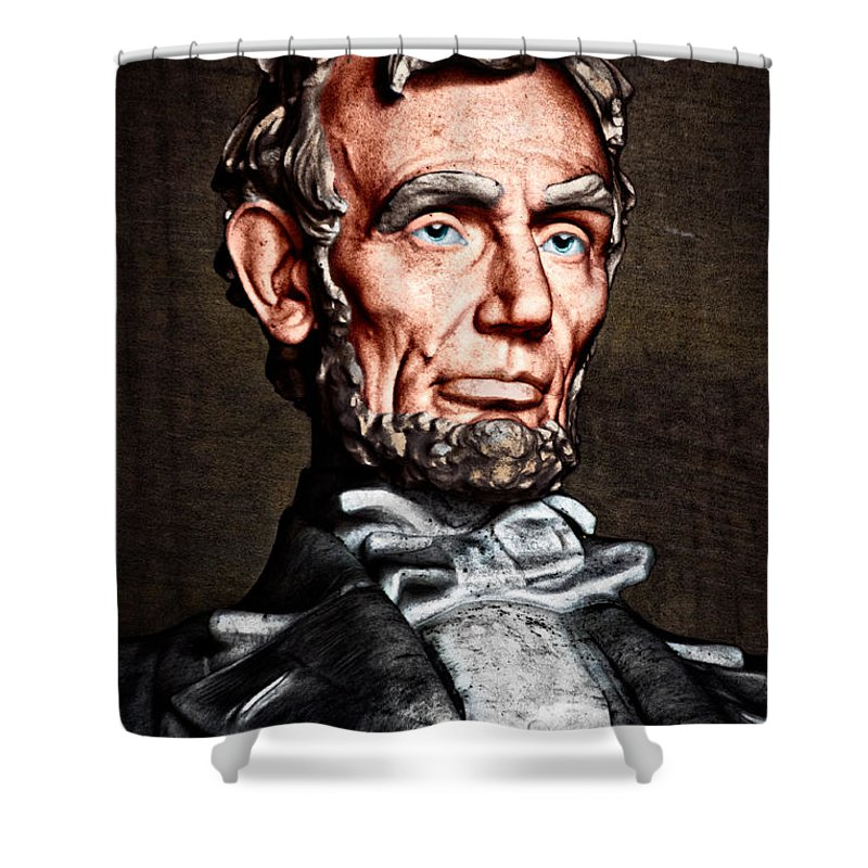 Abraham Lincoln Shower Curtain featuring the photograph Abraham Lincoln by Christopher Holmes