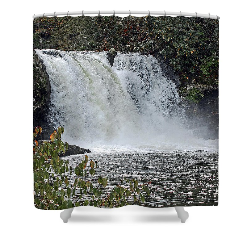 Water Falls Shower Curtain featuring the digital art Abrams Falls Cades Cove Tn by DigiArt Diaries by Vicky B Fuller