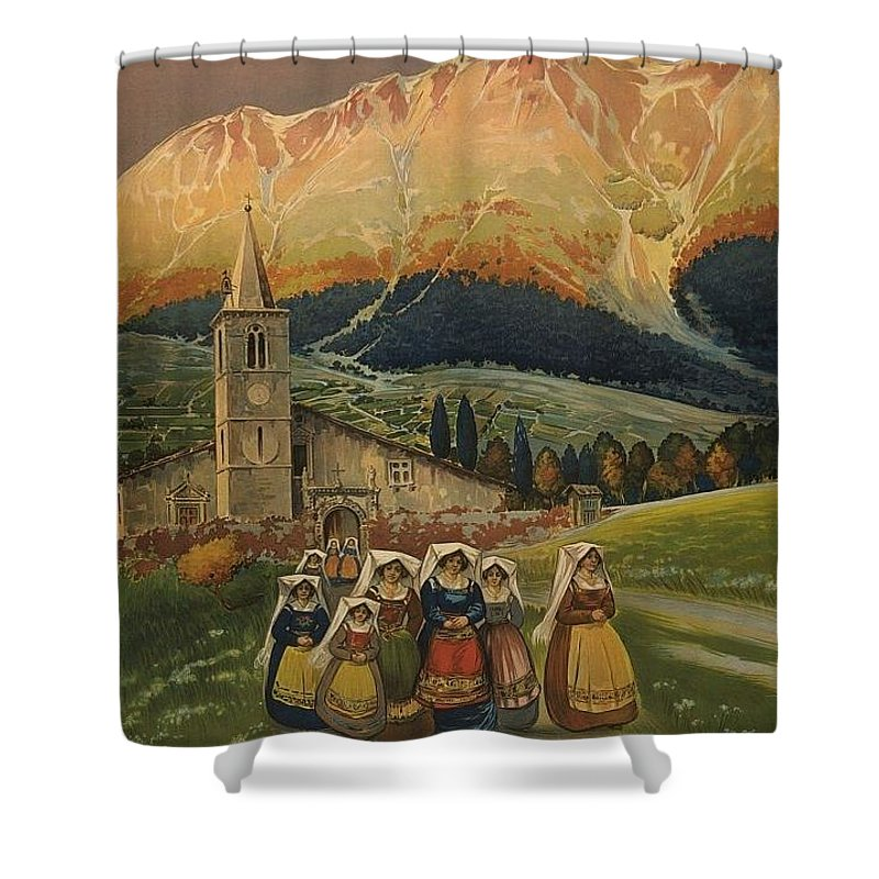 Nostalgic Shower Curtain featuring the photograph Abrvzzo by Nostalgic Prints
