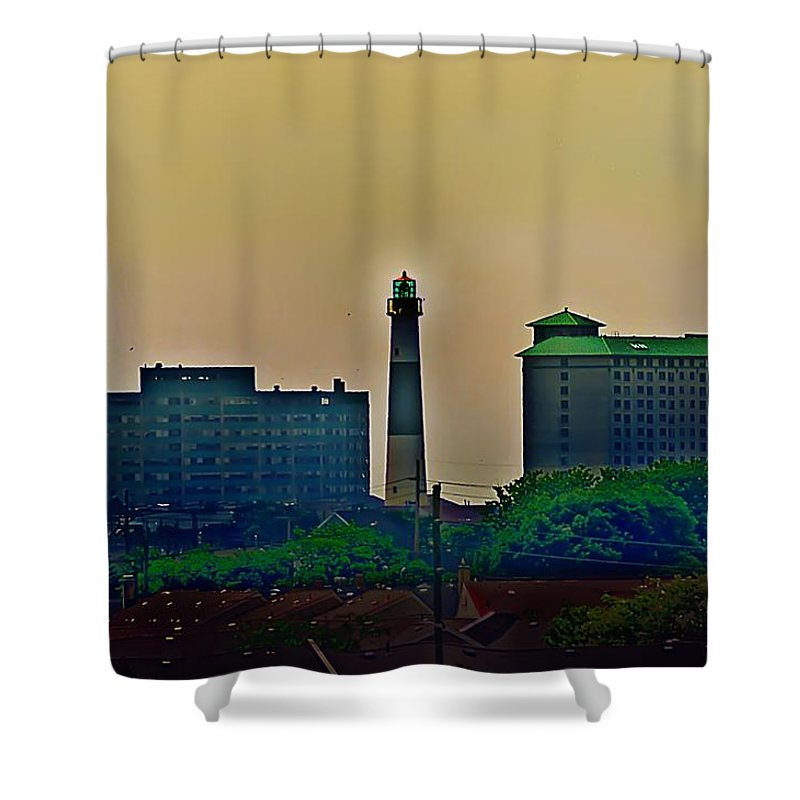 Atlantic City Shower Curtain featuring the photograph Absecon Lighthouse by Bill Cannon