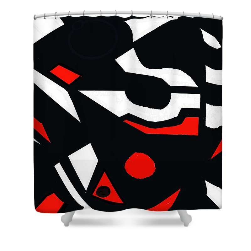 Abstract Shower Curtain featuring the digital art Abstrac7-30-09 by David Lane