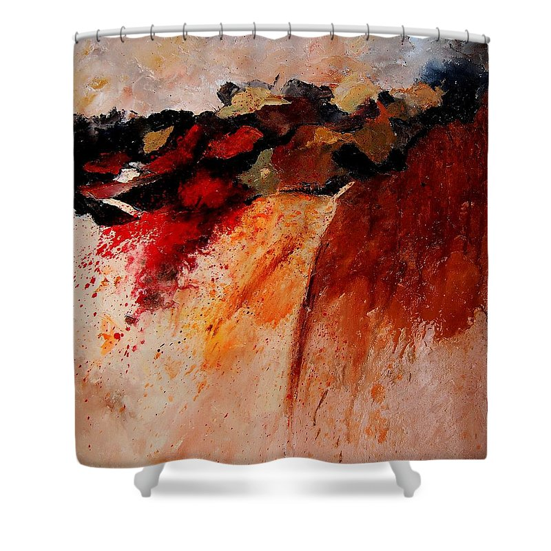 Abstract Shower Curtain featuring the painting Abstract 010607 by Pol Ledent