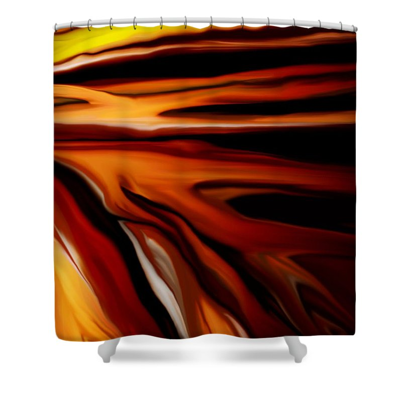 Digital Painting Shower Curtain featuring the digital art Abstract 02-12-10 by David Lane