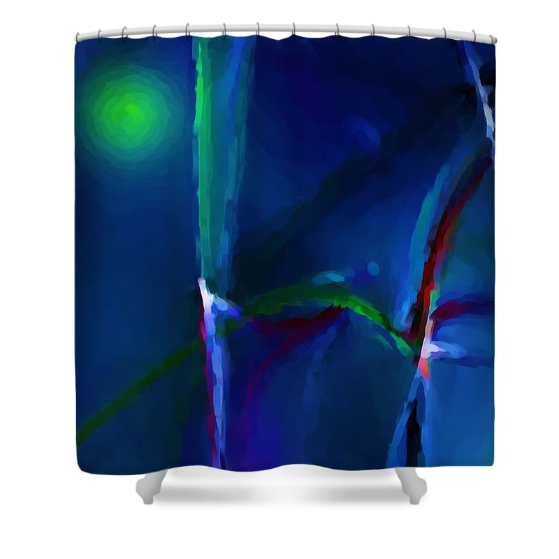 Abstract Shower Curtain featuring the digital art Abstract 022711a by David Lane