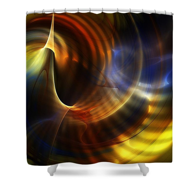 Fine Art Shower Curtain featuring the digital art Abstract 040511 by David Lane