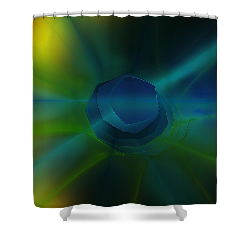 Fine Art Shower Curtain featuring the digital art Abstract 041111 by David Lane