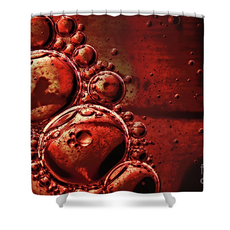 Shiny Shower Curtain featuring the photograph Abstract 0423c by Howard Roberts