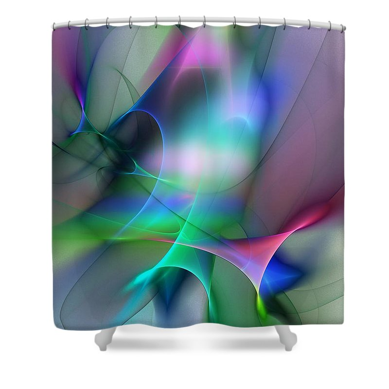 Digital Painting Shower Curtain featuring the digital art Abstract 053010 by David Lane