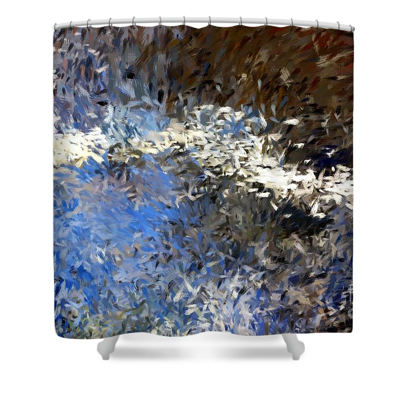 Abstract Shower Curtain featuring the digital art Abstract 06-03-09b by David Lane