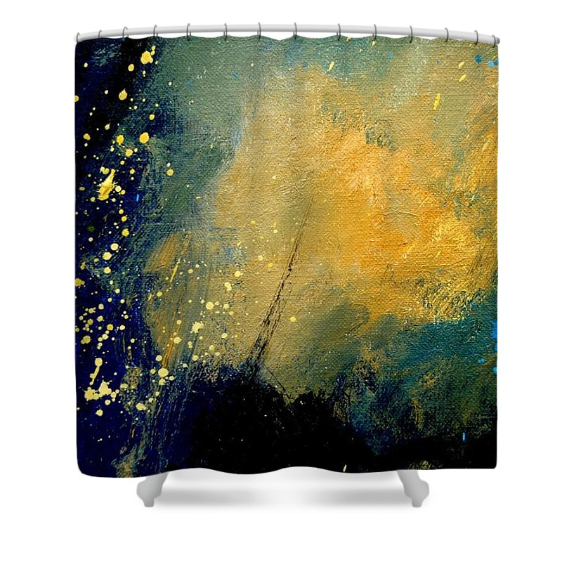 Abstract Shower Curtain featuring the painting Abstract 061 by Pol Ledent