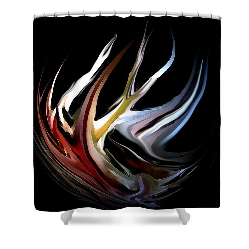 Abstract Shower Curtain featuring the digital art Abstract 07-26-09-c by David Lane