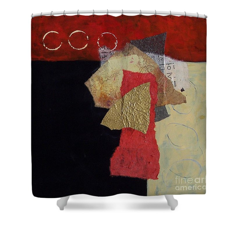 Abstract Expressionism Shower Curtain featuring the painting Abstract 070 by Donna Frost