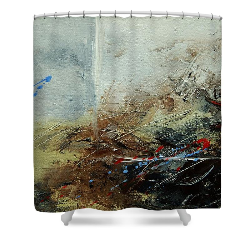 Abstract Shower Curtain featuring the print Abstract 070408 by Pol Ledent