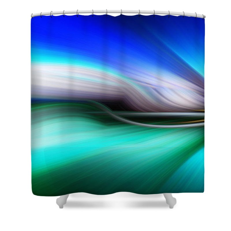 Art Shower Curtain featuring the photograph Abstract 0902 M by Howard Roberts