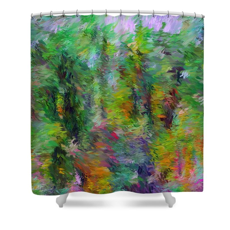 Fine Art Shower Curtain featuring the digital art Abstract 111510a by David Lane