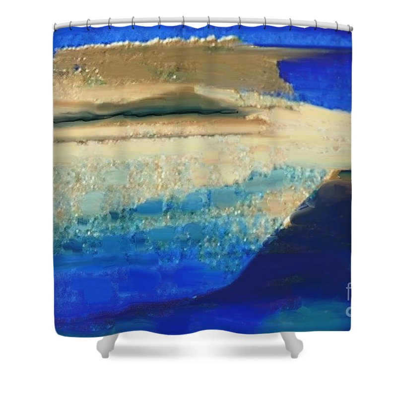 Abstract Shower Curtain featuring the photograph Abstract 121 by Aline Halle-Gilbert