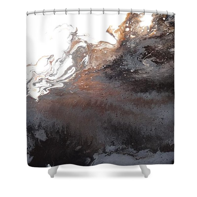 Abstract Shower Curtain featuring the painting Abstract #2 by Pat Fort