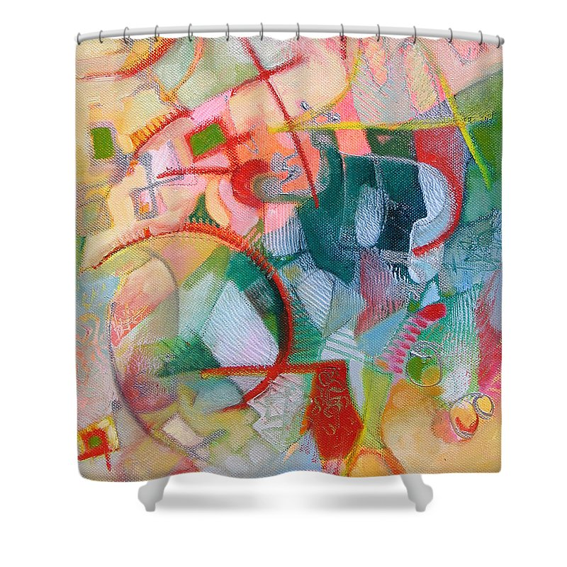 Abstract Artwork Shower Curtain featuring the painting Abstract 3 by Susanne Clark