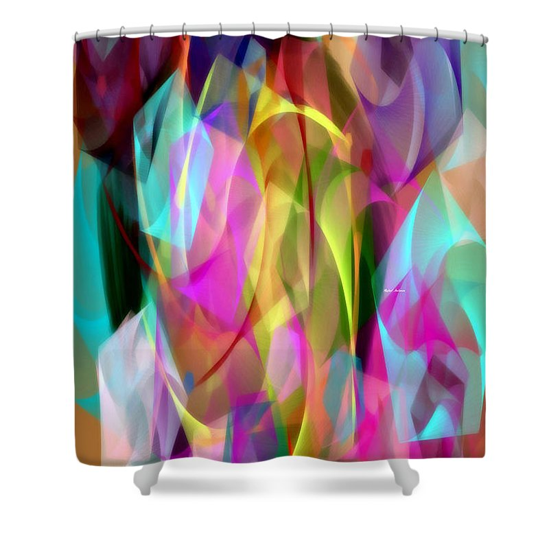 Rafael Salazar Shower Curtain featuring the digital art Abstract 3366 by Rafael Salazar