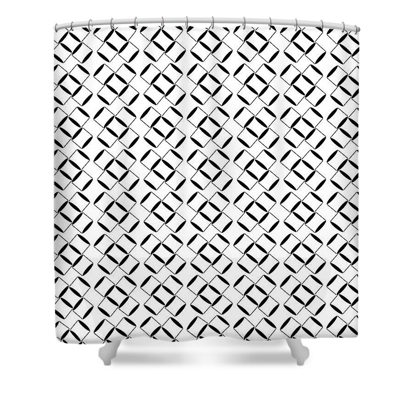 abstract 3d circle patterns shower curtain for sale by kayode fashola