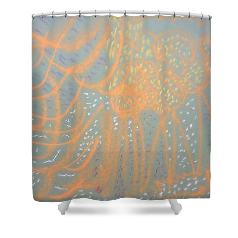 Soft Pastels Shower Curtain featuring the pastel Abstract 4 by Doriel Mackay