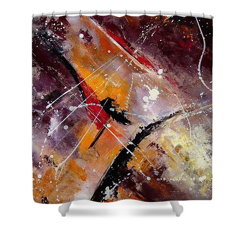 Abstract Shower Curtain featuring the painting Abstract 45 by Pol Ledent
