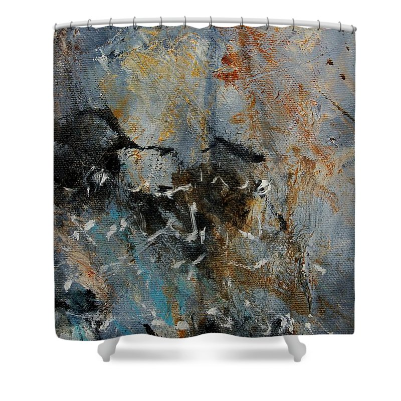 Abstract Shower Curtain featuring the painting Abstract 4526987 by Pol Ledent