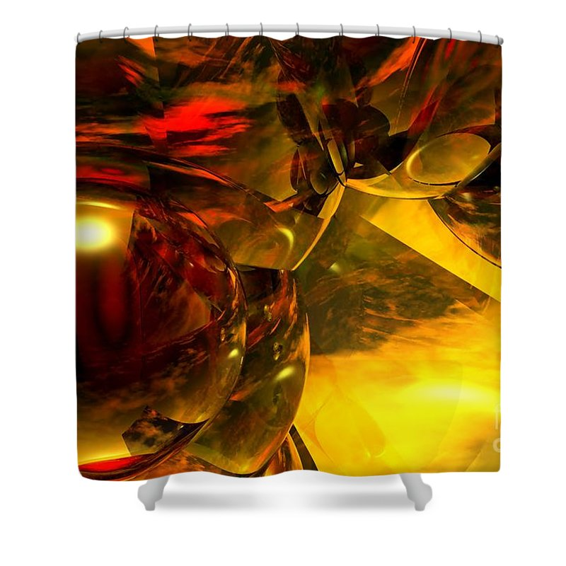 Abstract Shower Curtain featuring the digital art Abstract 5-21-09 by David Lane