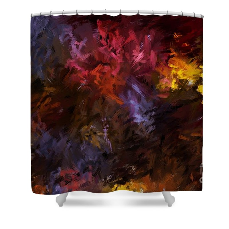 Abstract Shower Curtain featuring the digital art Abstract 5-23-09 by David Lane