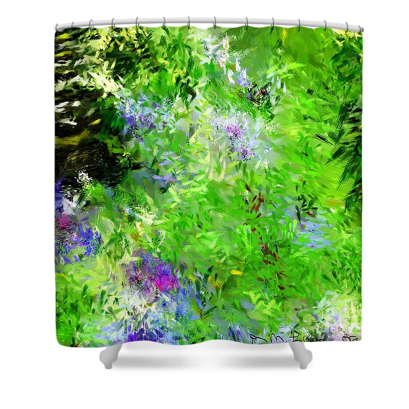 Abstract Shower Curtain featuring the digital art Abstract 5-26-09 by David Lane