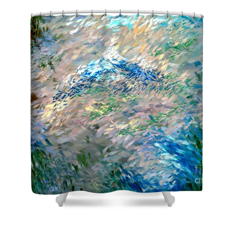 Abstract Shower Curtain featuring the digital art Abstract 6-03-09 A by David Lane