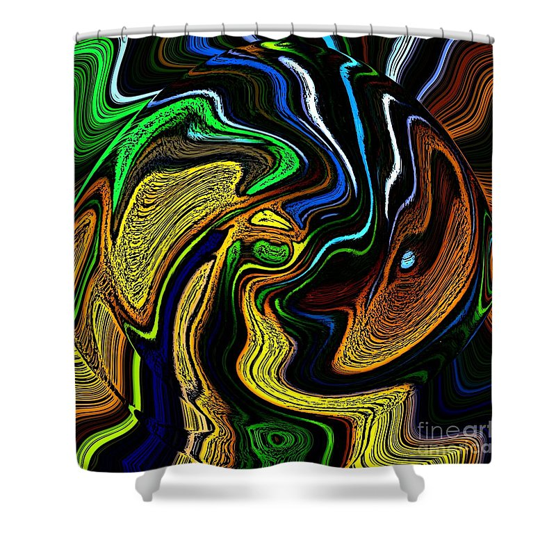 Abstract Shower Curtain featuring the digital art Abstract 6-10-09-a by David Lane