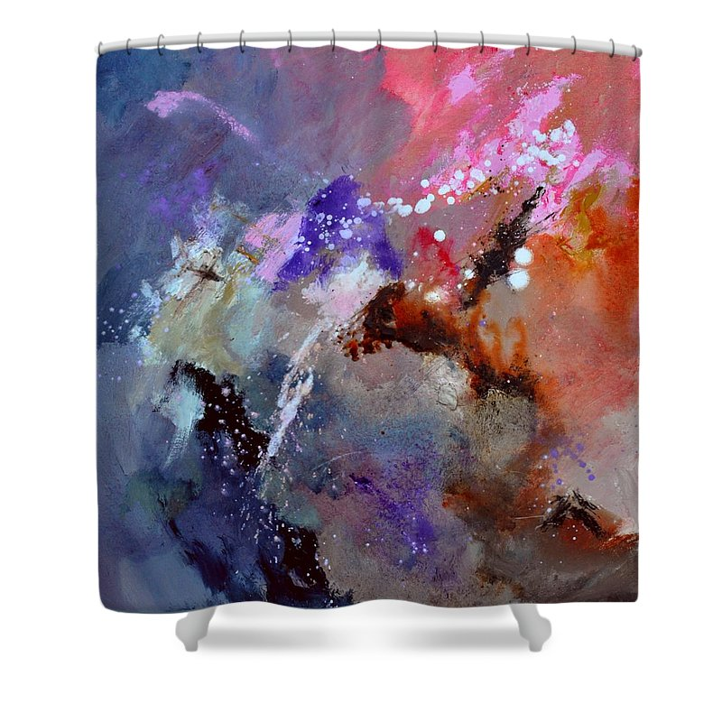Abstract Shower Curtain featuring the painting Abstract 6601012 by Pol Ledent