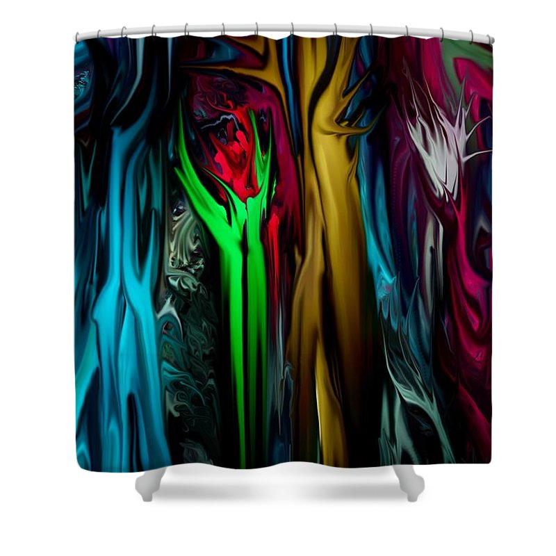 Abstract Shower Curtain featuring the digital art Abstract 7-09-09 by David Lane
