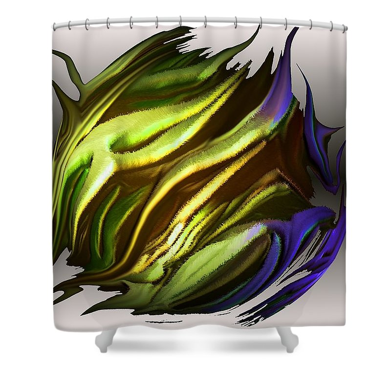 Abstract Shower Curtain featuring the digital art Abstract 7-26-09-a by David Lane