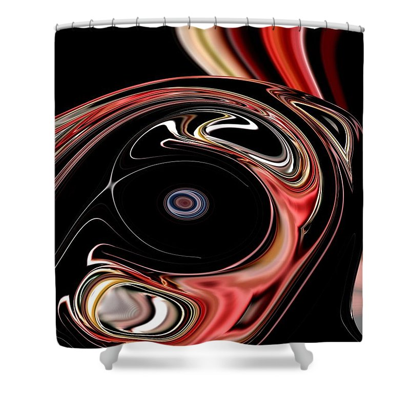 Abstract Shower Curtain featuring the digital art Abstract 7-26-09-b by David Lane