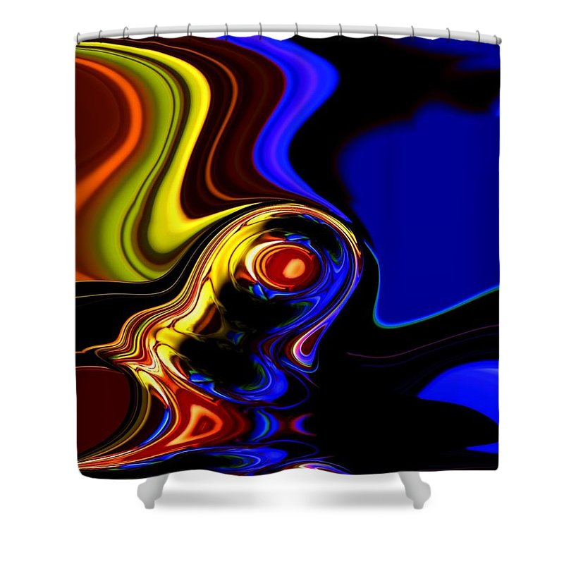 Abstract Shower Curtain featuring the digital art Abstract 7-26-09 by David Lane