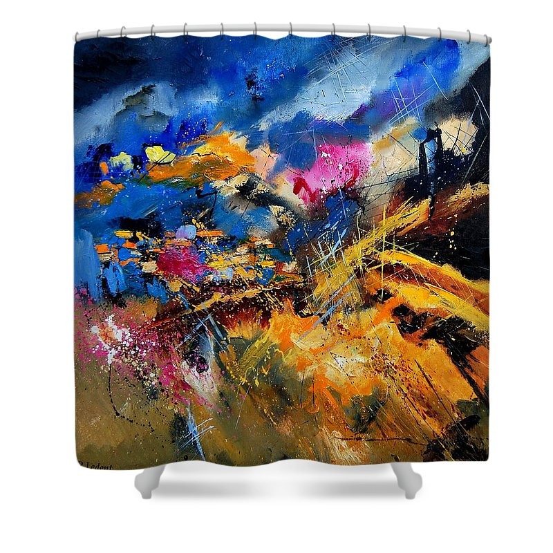 Abstract Shower Curtain featuring the painting Abstract 7808082 by Pol Ledent