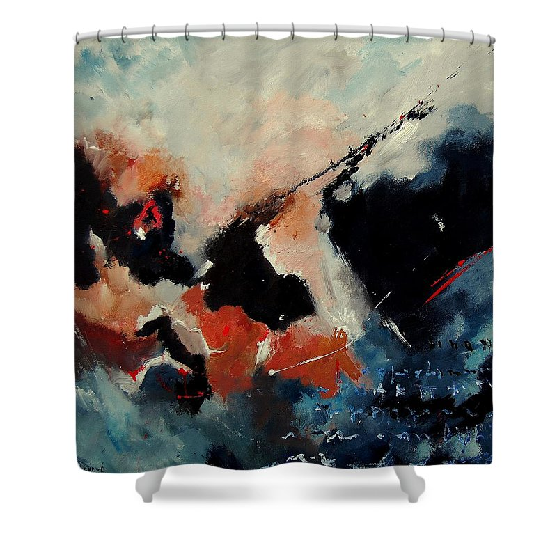 Abstract Shower Curtain featuring the painting Abstract 88012090 by Pol Ledent
