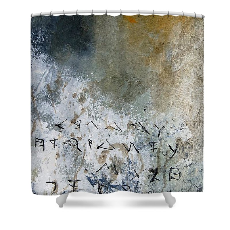 Abstract Shower Curtain featuring the painting Abstract 904023 by Pol Ledent