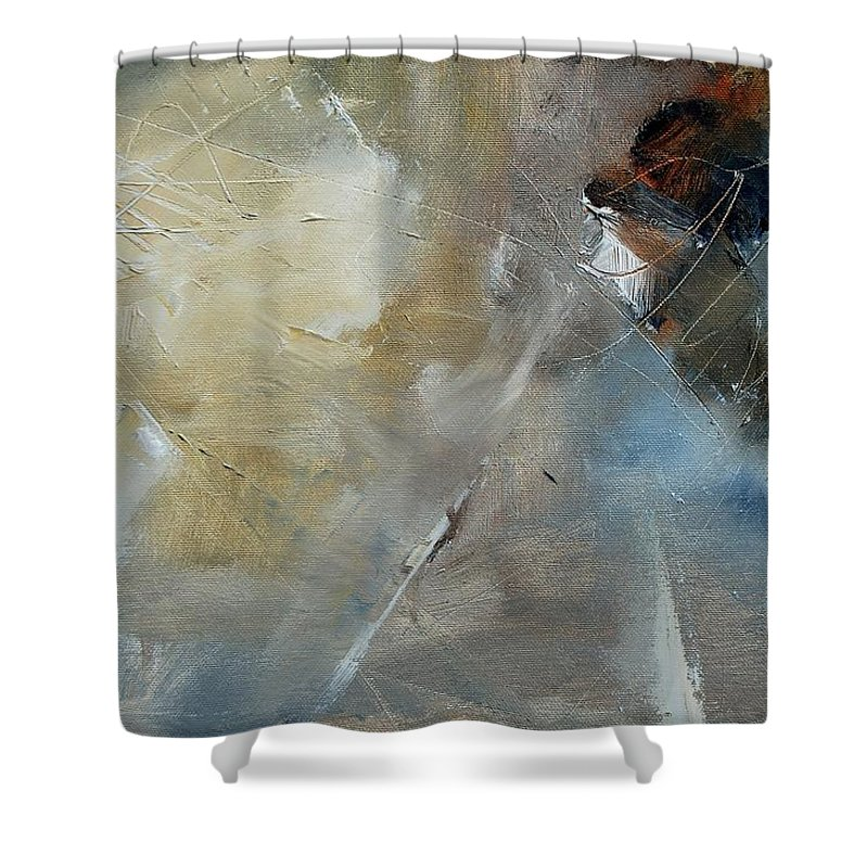 Abstract Shower Curtain featuring the painting Abstract 904060 by Pol Ledent