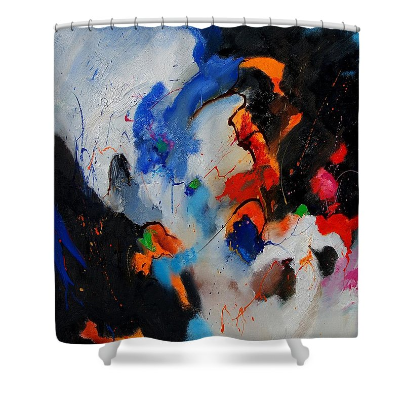 Abstract Shower Curtain featuring the painting Abstract 905060 by Pol Ledent