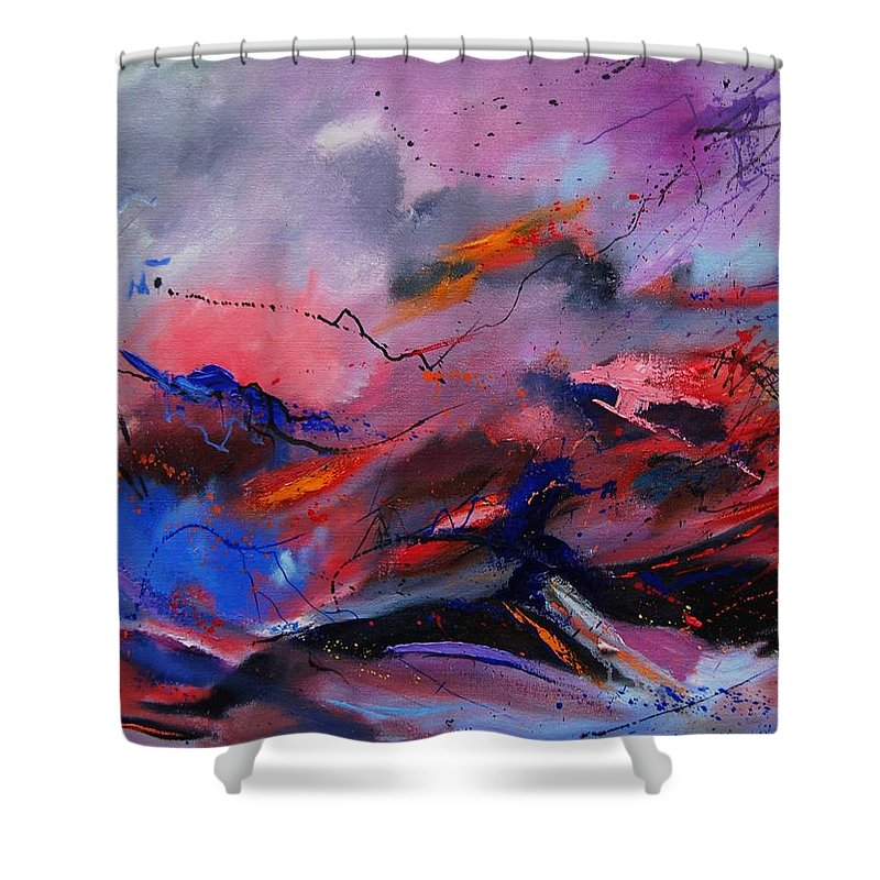 Abstract Shower Curtain featuring the painting Abstract 971260 by Pol Ledent