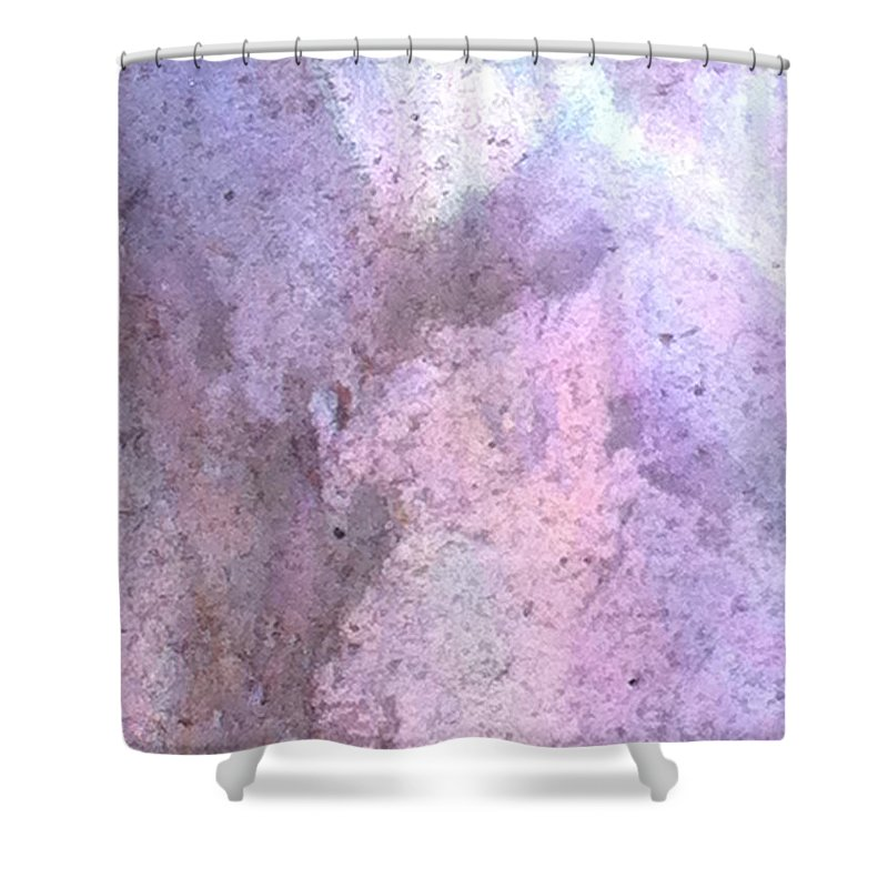 Abstract Shower Curtain featuring the photograph Abstract Abalone One by Ken Lerner