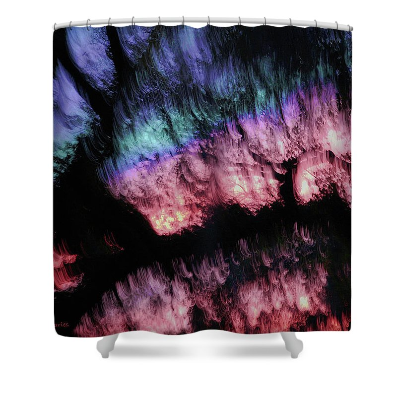 Abstract Shower Curtain featuring the digital art Abstract Accident by DigiArt Diaries by Vicky B Fuller