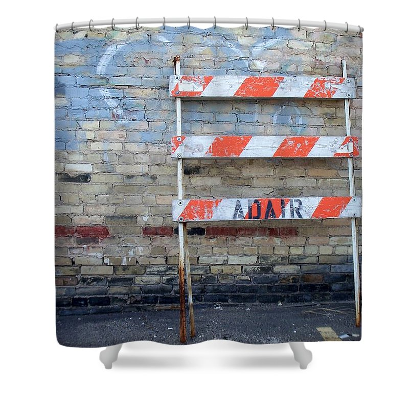 Industrial Shower Curtain featuring the photograph Abstract Brick 1 by Anita Burgermeister