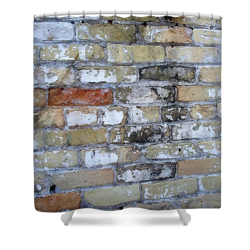 Industrial Shower Curtain featuring the photograph Abstract Brick 10 by Anita Burgermeister